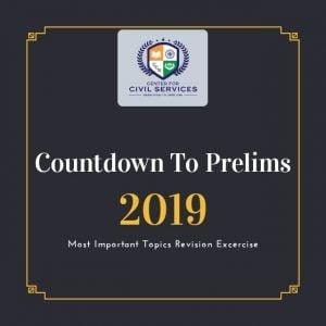 Countdown to Prelims : 2019