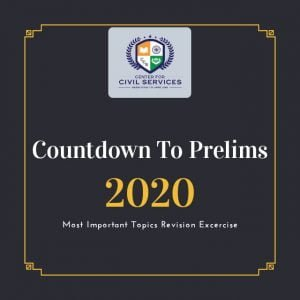 Countdown to Prelims : 2020