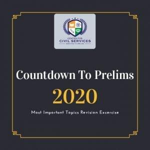 Countdown to Prelims : 2020